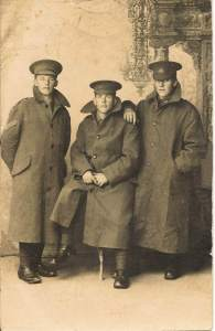 My great grandfather Harry in the middle, with his brothers Tom and Les